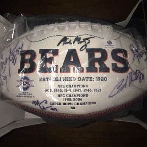 🏉2010-2011 Chicago Bears Signed Football🏉